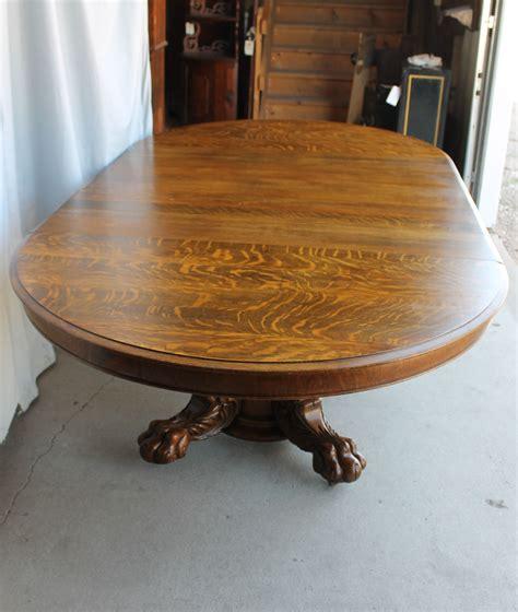 Oak Clawfoot Table Second Sun Antique Round Dining Table Second Oak Dining Table