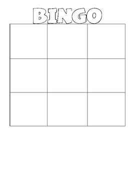 blank bingo card template 3x3 blank bingo wordo grids by erin stripling teachers pay
