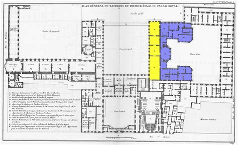 Louvre Floor Plan by Plan Palais Royal Paris Carte Palais Royal Paris France