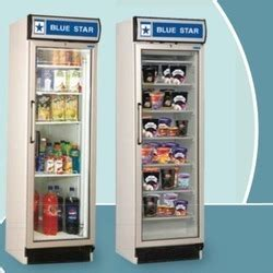 blue star glass door refrigerator ruchika refrigeration