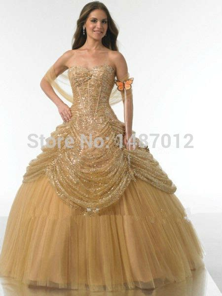 Sweety Gold M34 Free 6 free shipping quinceanera dresses 2015 sweet 16 dresses