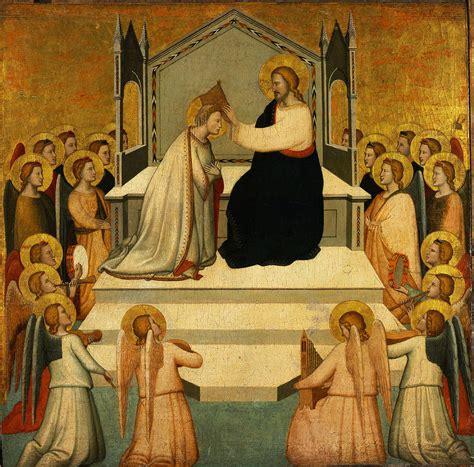 maso di banco coronation of the painting by maso di banco