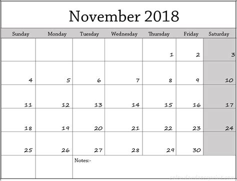 printable calendar november 2017 to december 2018 november 2018 calendar page template printable calendar