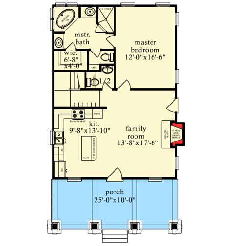 bunk room floor plans cottage with bunk room 9748al architectural designs