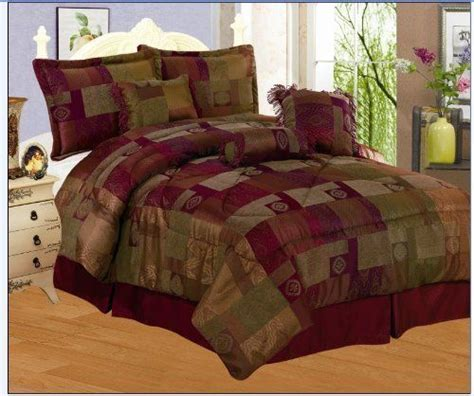 eggplant comforter set 7 pieces sage green burgundy gold and eggplant purple