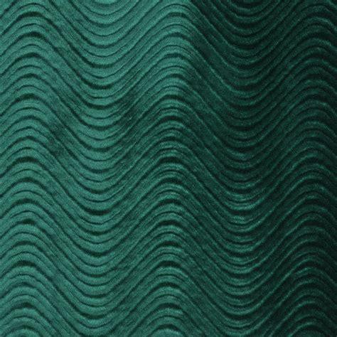 green classic swirl upholstery velvet fabric by the yard