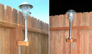 Solar Fence Lighting - how to add solar lights to a fence home design garden amp architecture blog magazine