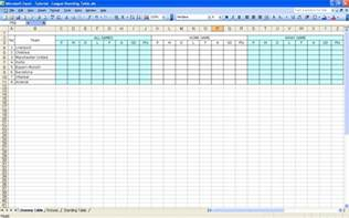 Excel Table Templates create your own soccer league fixtures and table excel templates