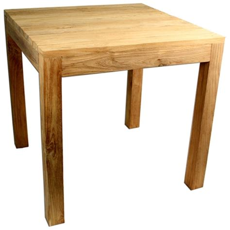 Rustic Square Dining Table by Rustic Square Outdoor Dining Table Teak Wood Dcg Stores