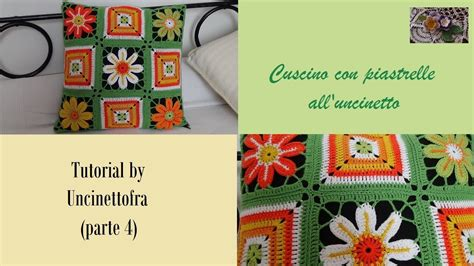 cuscino all uncinetto cuscino con piastrelle alluncinetto tutorial parte 4