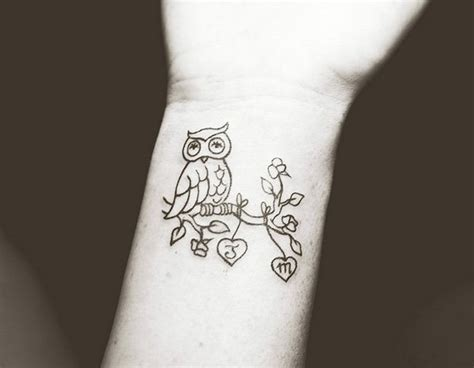 owl tattoos for girls 40 stylish wrist initials tattoos