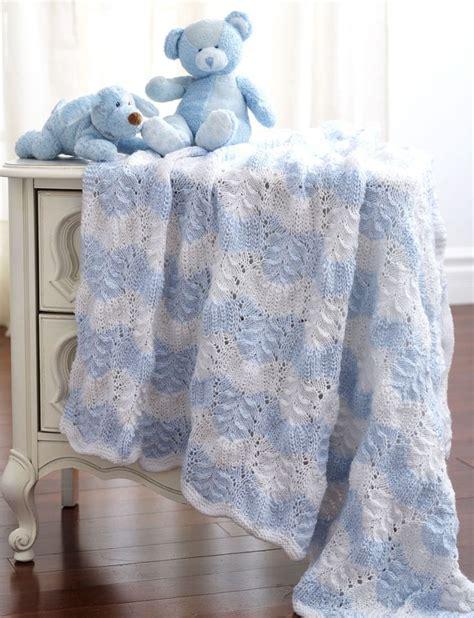 bernat free knitting patterns yarnspirations bernat feather and fan blanket to