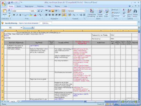 business risk analysis template analysis business risk analysis template