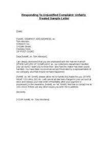 Treatment Cover Letter by Responding To Unjustified Complaint Unfairly Treated Hashdoc