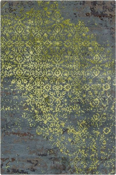 Green And Grey Area Rugs rupec collection wool and viscose area rug in green blue and grey de burke decor