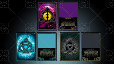 Scifi Tcg Card Template by Tcg Ccg Cards Hd Templates Gamedev Market