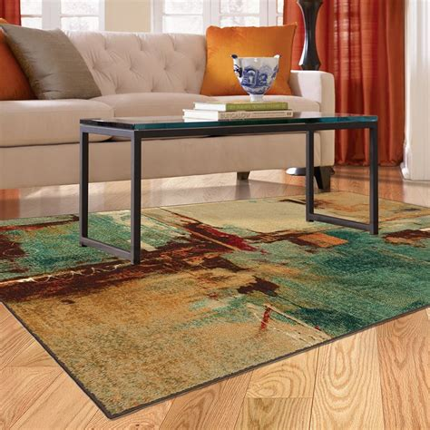 Teal Area Rug 5x8 5x8 Contemporary Modern Abstract Aqua Teal Area Rug Ebay