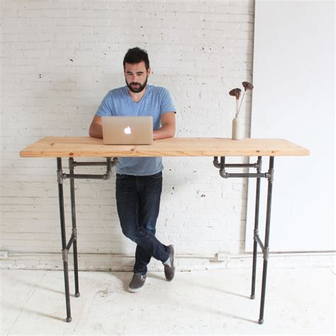 diy work desk diy plumbers pipe standing desk
