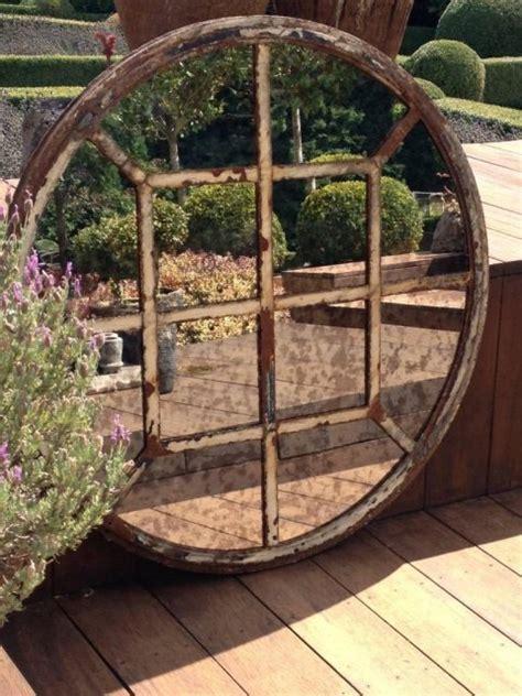 rare circular  panel cast iron window frame circular
