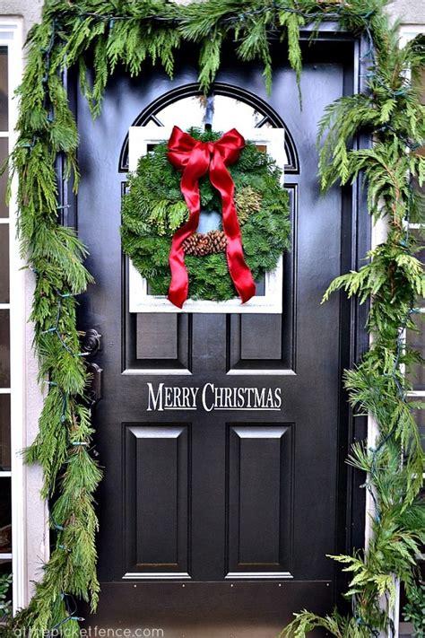 front door decor christmas how to achieve the front door decor this
