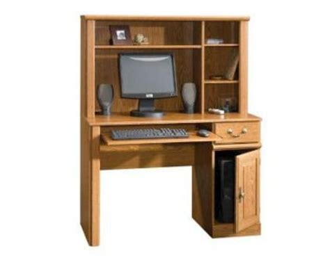 sauder orchard computer desk with hutch carolina oak sauder orchard 42 quot carolina oak computer desk with