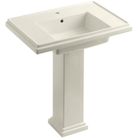 single pedestal sink kohler tresham ceramic pedestal combo bathroom sink with