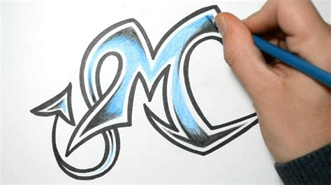 how to draw graffiti letters m