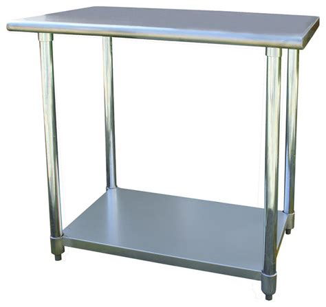 stainless steel kitchen work table island sportsman series stainless steel work table 24 x 36 inches