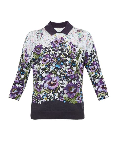 Jumper Printed Blue Helicopter ted baker enchantment printed jumper in blue lyst