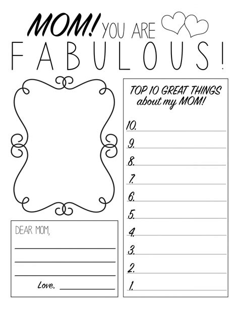 preschool mothers day card template s day printable worksheet printable worksheets