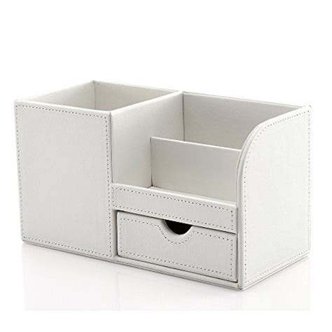 White Leather Desk Accessories Desk Organizer Shop For Desk Accessories Canada Phase 2 Solutions
