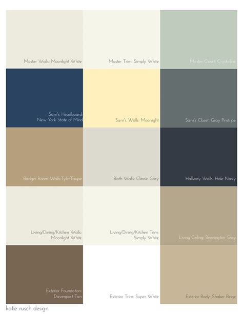 picking a palette for your whole house rusch