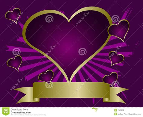 purple grunge valentines background stock vector image