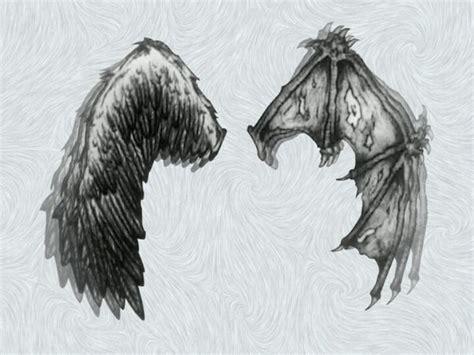 tattoo wings angel devil angel vs devil wing tattoo amazing tattoo ideas