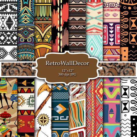 tribal pattern paper tribal digital paper tribal scrapbook paper tribal pattern