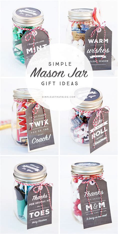 ideas for christmas gifts for 6 to 8 year olds simple jar gifts with printable tags printable tags jar and easy