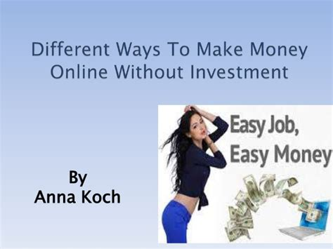 How To Make Money Online Investing - how to earn money by online without investment