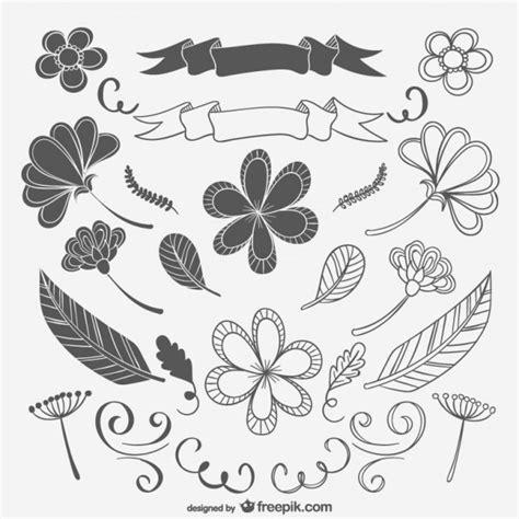 imagenes vintage blanco y negro para imprimir dibujos florales en blanco y negro descargar vectores gratis