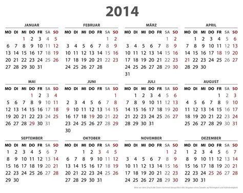 Calendar Template 2014 Pdf