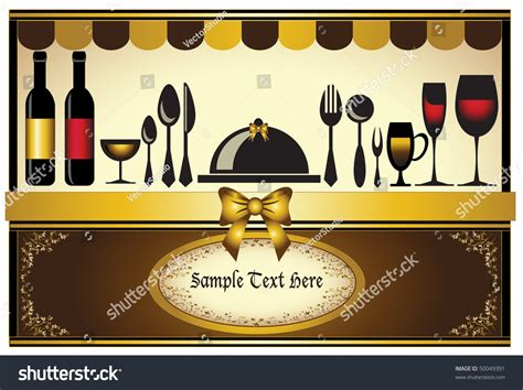 invitation card design for restaurant restaurant menu invitation card classic background stock