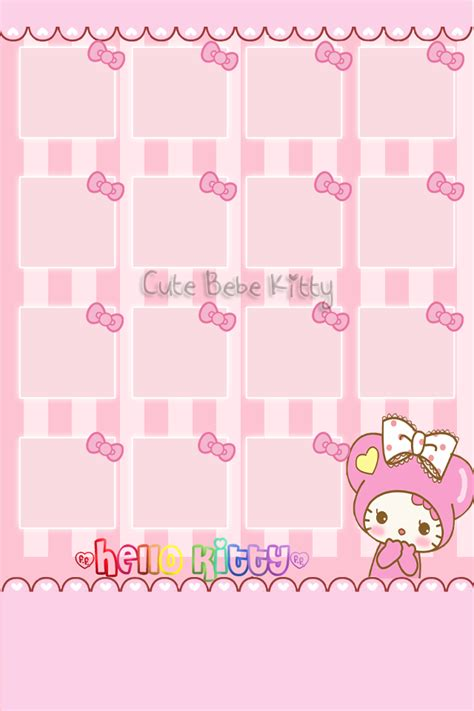 hello kitty home screen wallpaper iphone themes cute bebe kitty