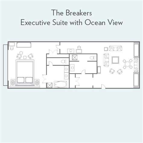 The Breakers Floor Plan by Executive Suite With View Suites The Breakers