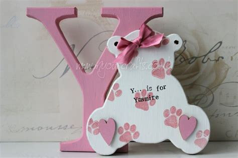 craft ideas for baby room wooden crafts bespoke mdf freestanding letter with mdf