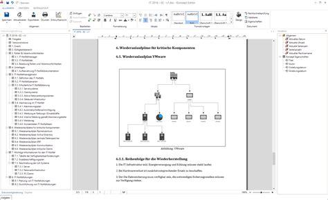 Word Vorlage Konzept it handbuch und it notfallhandbuch mit docusnap erstellen