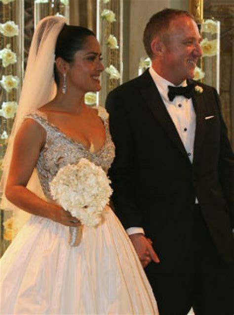 Salma Hayek Is Engaged And Knocked Up by Salma Hayek S Studded Wedding