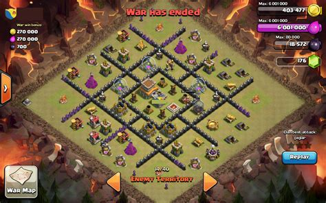 clash of clans best th 8 trophyclan war base th8 4 contoh war base th 8 anti naga terbaik