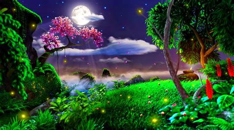 moon and stars light moon light and stars night background with trees nature