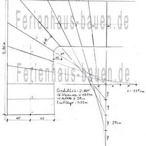 viertelgewendelte treppe konstruieren treppen verziehen im grundriss skizze formel beispiele