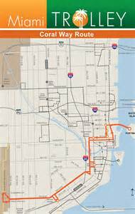 Miami Trolley Map by New City Of Miami Trolley Route Coral Way Melanie In Miami
