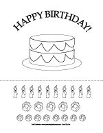 Cake Decorating Worksheets Printable Birthday Coloring Activity Pages